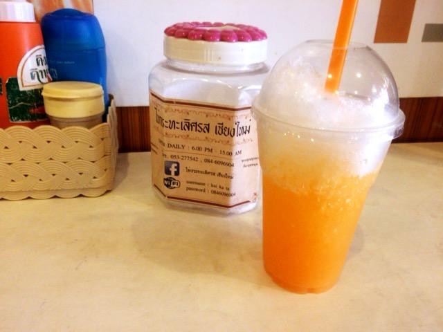 モーニングカフェ 生絞りフレッシュオレンジジュース