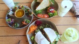 <カフェ>ImmAim Vegetarian and Bike Cafe 侮れない!サンティタムのベジタリアン!