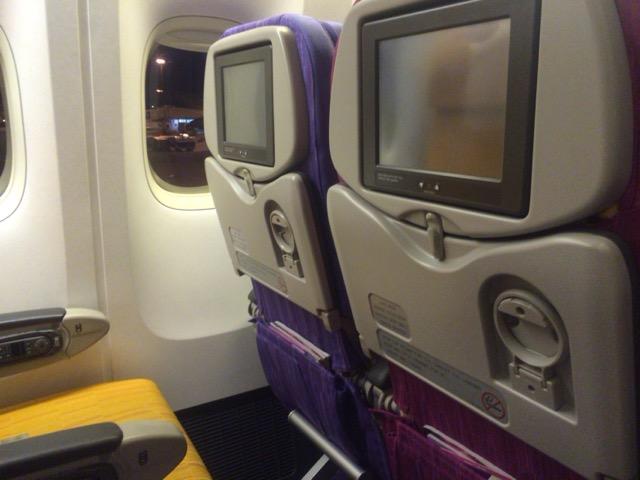 機内 タイ航空(チェンマイーバンコク)