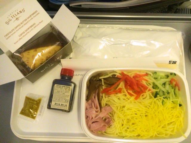 hawaii2016 JAL機内食 ハワイ線ホノルル発