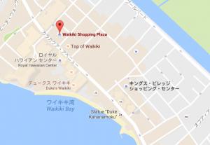 地図 ワイキキ(ワイキキショッピングプラザ)