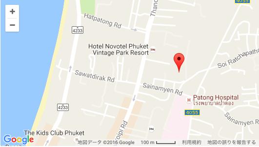map パトンビーチのローカルな屋台街