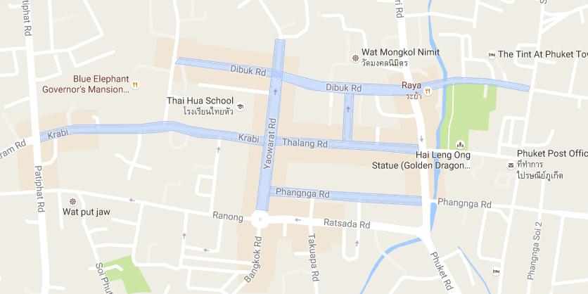 map プーケットタウン(オールドタウン)