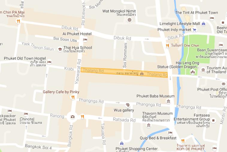 map プーケットタウン サンデーマーケット