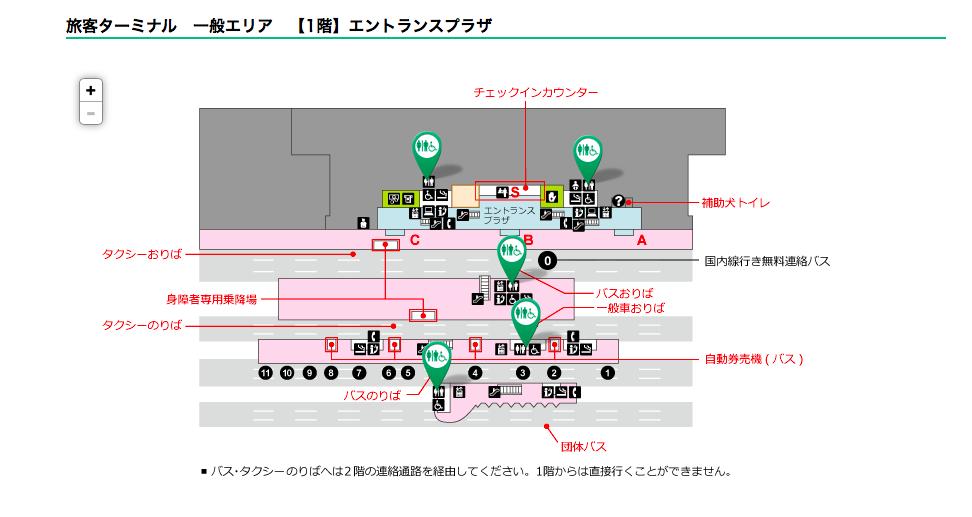 多目的トイレ@羽田空港一般エリア1F