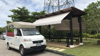 マイカオビーチエリア内の無料シャトルバスと繁華街へのシャトルバス&タクシー