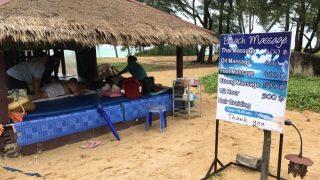 マイカオビーチのローカルマッサージ小屋