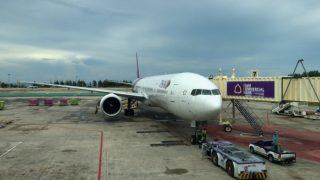 プーケット国際空港から出発!まずはバンコクまでタイ国際航空で。