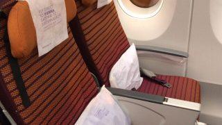 チェンマイ発スワンナプーム行き TG121の機内食